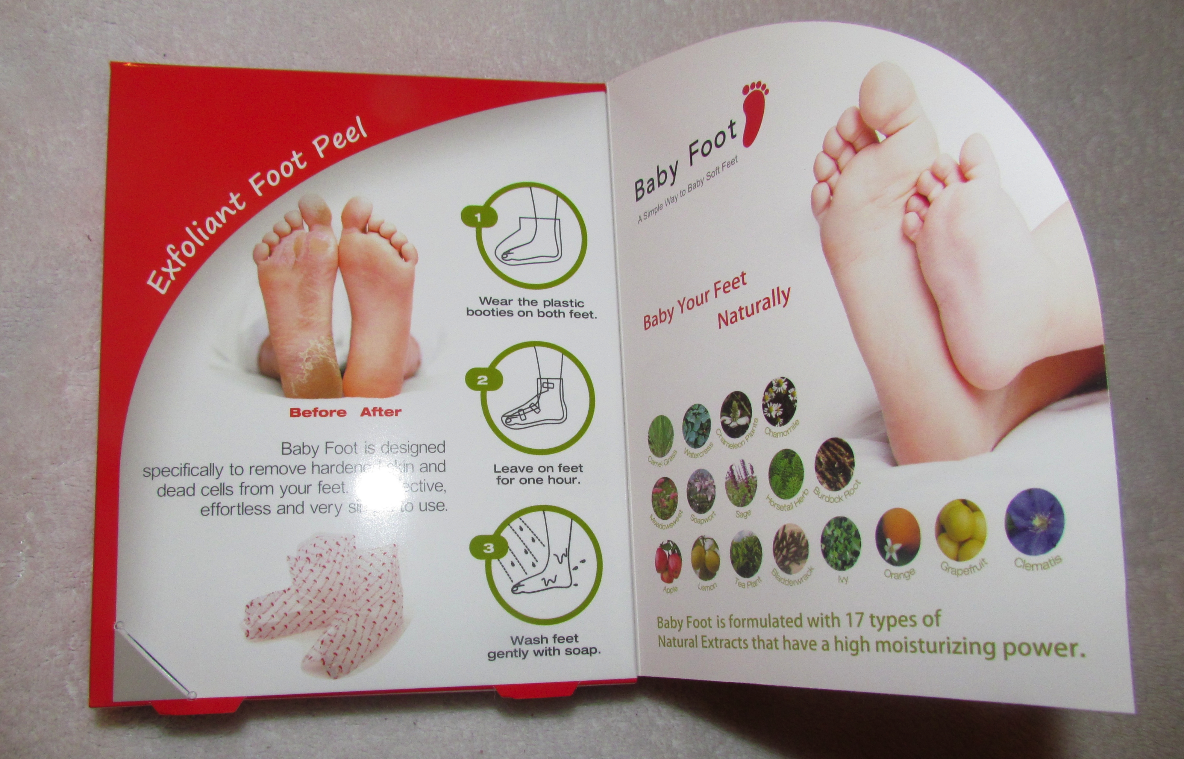 Baby Foot Exfoliant Foot Peel Treatment Lavender For Feet